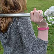 Girls Lacrosse Leather Engraved Bracelet Lacrosse Stick (Female)