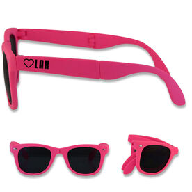 Foldable Lacrosse Sunglasses Heart Lax