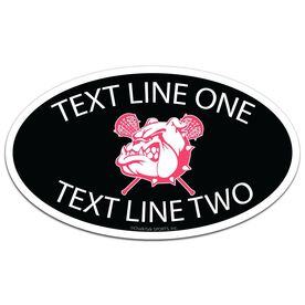 Girls Lacrosse Oval Car Magnet Your Logo