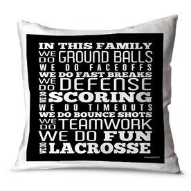 Lacrosse Throw Pillow Lacrosse Lacrosse We Do Lacrosse
