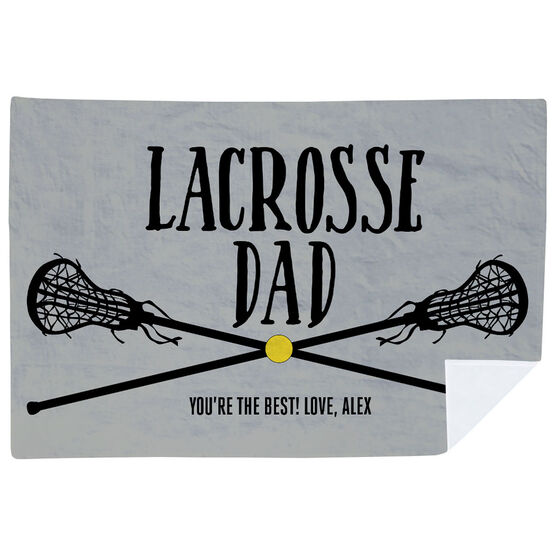 Girls Lacrosse Premium Blanket - Lacrosse Dad
