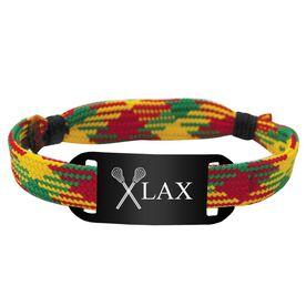 Lacrosse Shooting String Bracelet Crossed Sticks and Lax Adjustable Shooter Bracelet