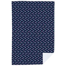Girls Lacrosse Premium Blanket - Lacrosse Stick Herringbone