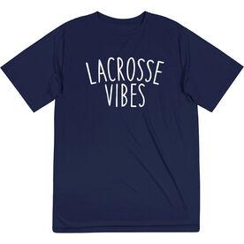 Girls Lacrosse Short Sleeve Performance Tee - Lacrosse Vibes