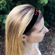 Girls Lacrosse Juliband No-Slip Headband - Crossed Sticks and Number