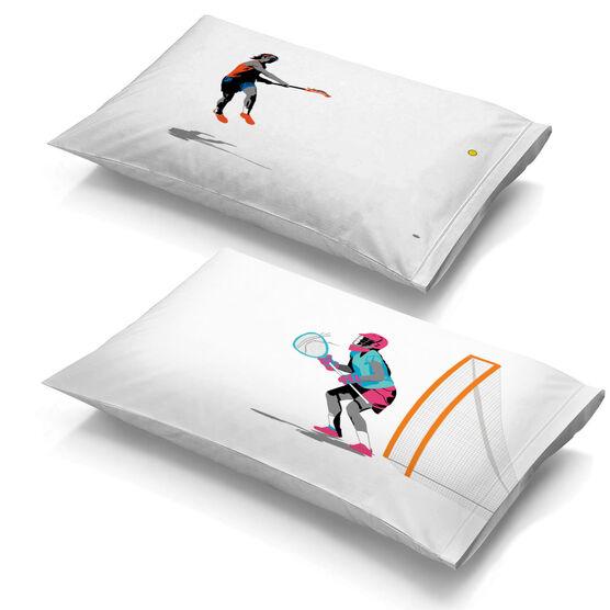 Girls Lacrosse Pillowcase Set - She Goes For The Goal