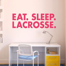 Lacrosse Removable ChalkTalkGraphix Wall Decal - Eat Sleep Lacrosse Bold Text