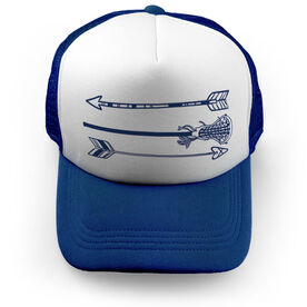 Girls Lacrosse Trucker Hat Arrows