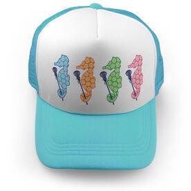 Girls Lacrosse Trucker Hat - Lax Seahorses
