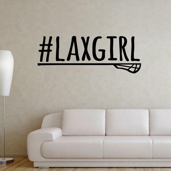 Lacrosse Removable ChalkTalkGraphix Wall Decal #LAXGIRL