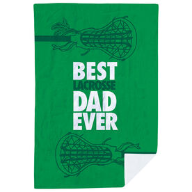 Girls Lacrosse Premium Blanket - Best Dad Ever