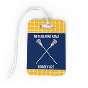 Girls Lacrosse Bag/Luggage Tag - Personalized Team Crossed Sticks