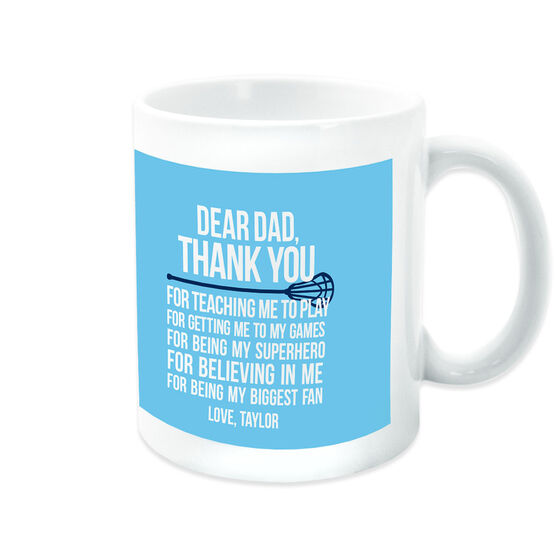 Lacrosse Coffee Mug Dear Dad