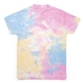 Girls Lacrosse Short Sleeve T-Shirt - LAX Turtle Tie Dye