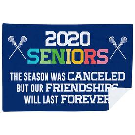 Girls Lacrosse Premium Blanket - 2020 Season Was Canceled But Friendships Last Forever