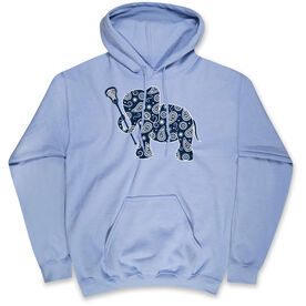 Girls Lacrosse Hooded Sweatshirt - Lax Elephant