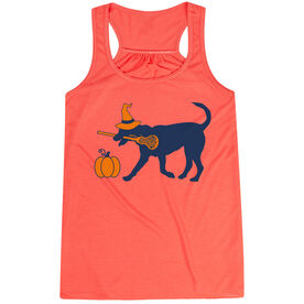 Girls Lacrosse Flowy Racerback Tank Top - Lula Witch Dog