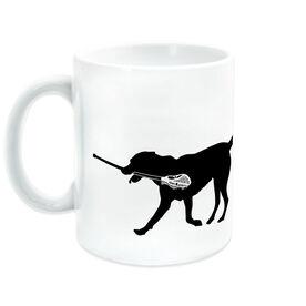 Lacrosse Coffee Mug Max the Lax Dog