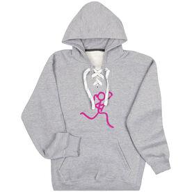 Girls Lacrosse Sport Lace Sweatshirt - Neon Lax Girl