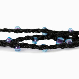 Girls Lacrosse Beaded Wrap Bracelet - Stick with Cubic Zirconia