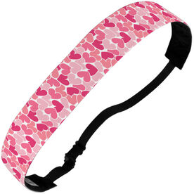 Athletic Julibands No-Slip Headbands - Heart Pattern