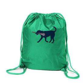 Lacrosse Sport Pack Cinch Sack LuLa The LAX Dog(Blue)