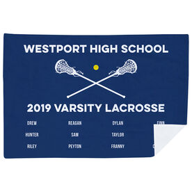 Girls Lacrosse Premium Blanket - Team Roster