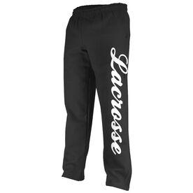 Girls Lacrosse Fleece Sweatpants - Lacrosse Script