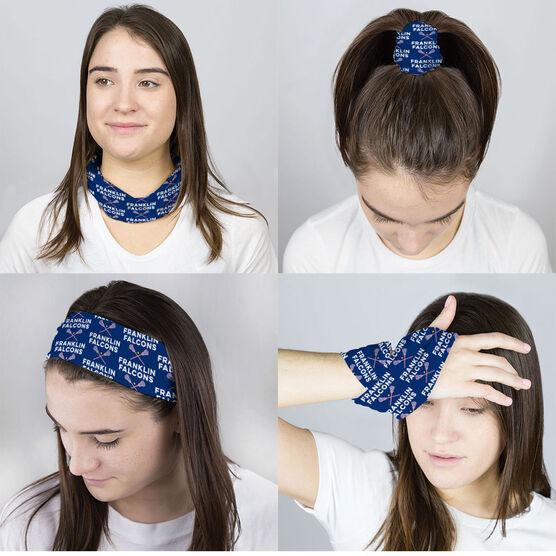 Girls Lacrosse Multifunctional Headwear - Custom Team Name Repeat RokBAND