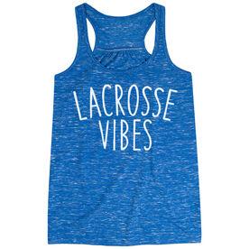 Girls Lacrosse Flowy Racerback Tank Top - Lacrosse Vibes