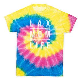 Girls Lacrosse Short Sleeve T-Shirt - LAX Mom Life Tie Dye