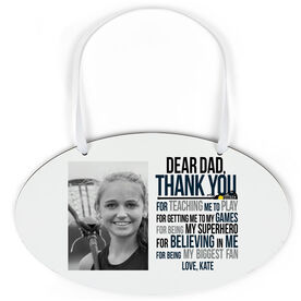 Girls Lacrosse Cloud Sign - Dear Dad with Photo