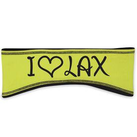 Lacrosse Reversible Performance Headband I Heart Lax