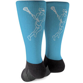 Girls Lacrosse Printed Mid-Calf Socks - Player