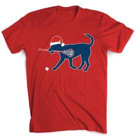 Lacrosse Short Sleeve T-Shirt - Christmas Dog