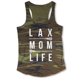 Girls Lacrosse Camouflage Racerback Tank Top - Lax Mom Life