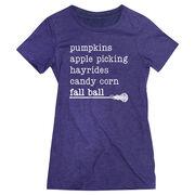 Girls Lacrosse Women's Everyday Tee - Favorite Fall Things