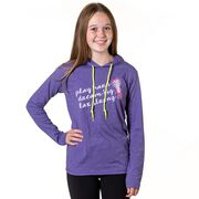 Girls Lacrosse Lightweight Hoodie - Play Hard Dream Big Lax Strong