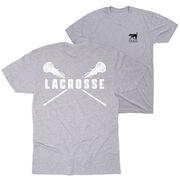 Girls Lacrosse Short Sleeve T-Shirt - Crossed Girls Sticks (Logo Collection)