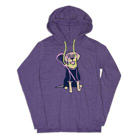 Girls Lacrosse Lightweight Hoodie - Lily The Lacrosse Dog