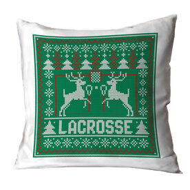 Lacrosse Throw Pillow - Lacrosse Christmas Knit
