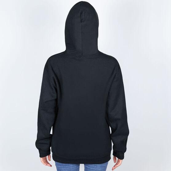 Girls Lacrosse Hooded Sweatshirt - My Goal Is To Deny Yours Goalie Stick