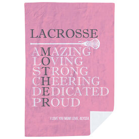 Girls Lacrosse Premium Blanket - Mother Words