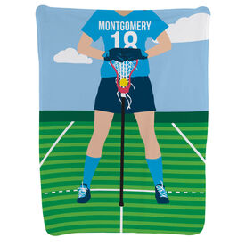 Girls Lacrosse Baby Blanket - Lacrosse Player