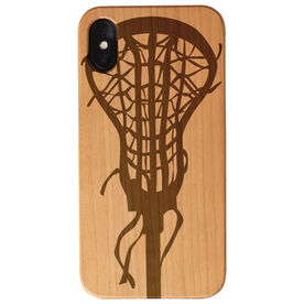 Girls Lacrosse Engraved Wood IPhone® Case - Lacrosse Stick Head