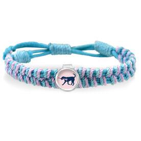 Adjustable Woven SportSNAPS Bracelet LuLa the Lax Dog