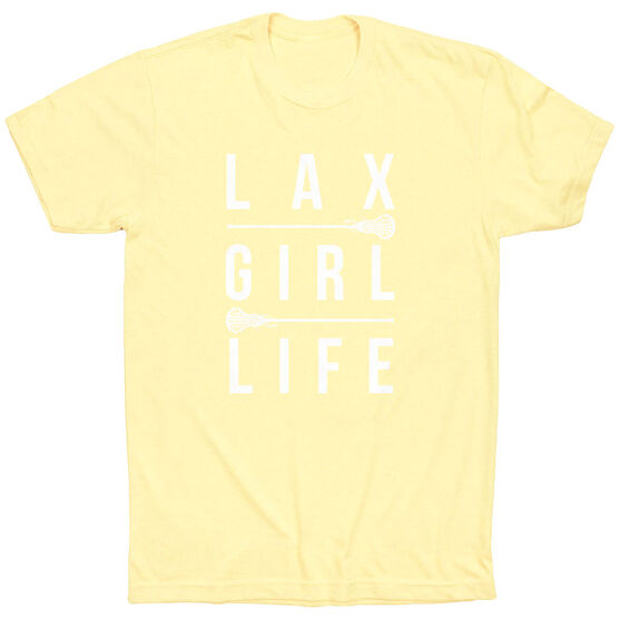Girls Lacrosse Short Sleeve T-Shirt - Lax Girl Life