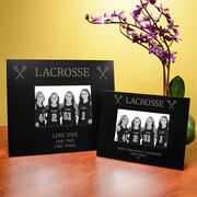 Girls Lacrosse Engraved Picture Frame - Lacrosse & Crossed Sticks