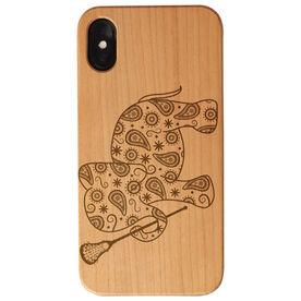 Girls Lacrosse Engraved Wood IPhone® Case - Lax Elephant