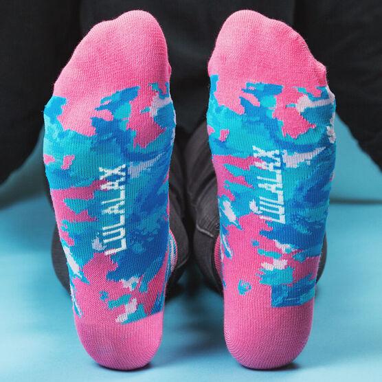 Girls Lacrosse Ankle Socks - Island Flower Lax